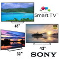 "Sony 3-Smart LED HDTV Bundle Package Featuring 48"", 43"" & 32""; TV's For the Whole House"