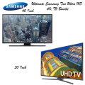 "The Ultimate 2 TV Bundle Featuring Samsung 40"" & 50"" Ultra HD 4K LED Smart TV's Available in Black"