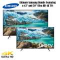 "The Ultimate 2 TV Bundle Featuring Samsung 43"" & 50"" Ultra HD 4K LED Smart TV's Available in Black"