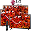LG 3 - 4K Ultra HD HDR LED Smart TV Bundle Package