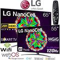 LG NanoCell 2-4K Ultra HD HDR LED Smart TV Bundle Package