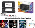 Nintendo New 3DS XL Solgaleo Lunala Handheld Gaming System With 4-Games