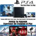 PS4-500GB Sports Bundle W/4-Games, 2-Wireless Controllers, Wired Mono Headset & More