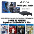 PS4-500GB Sports Bundle W/4-Games, 2-Wireless Controllers,  & More