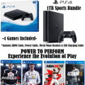 PS4-1 TB Sports Bundle W/4-Games, 2-Wireless Controllers,  & More
