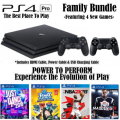 PS4 Pro 1TB Family Bundle Featuring 4 New Games, Extra Controller, & More