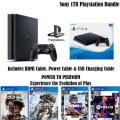 Sony PlayStation 4 Gaming Console Sports/Action Bundle With Extra Controller & 4-Premium Games