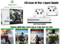 XBOX One S 1TB Gears Of War 4 Bundle W/4-Games, 2-Wireless Controllers & More