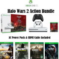 XBOX One S 1TB Halo Wars 2 Bundle W/4-Games, 2-Wireless Controllers & More