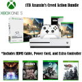 Xbox One S 1TB Assassin's Creed Origins Action Bundle W/2 Wireless Controllers, 4 Games and More