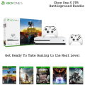 Xbox One S 1TB BattleGrounds Bundle W/Wireless Controllers,  Games and More