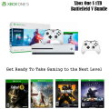 Xbox One S 1TB Battlefield V Bundle W/2 Wireless Controllers, Games and More