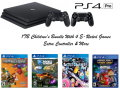 PS4 Pro 1 TB Children's Bundle With 4 E-Rated Games & Extra Controller