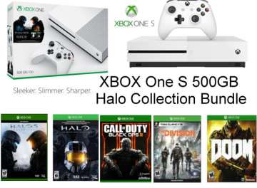 Microsoft - Xbox One S 500GB White Halo Console Collection Bundle W/ 4 Additional Games + Controller