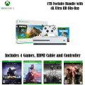 All New Adventure - Xbox One S 1TB Fortnite Collection Bundle w/4 Games & Extra Controller