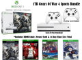 Microsoft Xbox One S 1TB Gears Of War 4 Sports Bundle, Extra Controller & 3 Games
