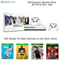 Microsoft Xbox One S 1TB Starter Bundle, Extra Controller, 4 Games & More