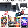 Nintendo Switch 32GB Console With Joy-Con & Switch Pro Controllers, Includes 4 Console Games