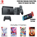 Nintendo Switch 32GB Kids Console With Joy-Con & Switch Pro Controllers, Includes 4 Console Games