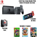 Nintendo Switch 32GB Take Along Bundle, Includes Carry Case & Three Games (Choice of Console Color)