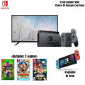 "Nintendo Switch 32GB Bundle, Includes 43"" Class LED Smart TV & Three Games (Choice of Console Color)"