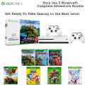 Microsoft Xbox One S 1TB Minecraft Complete Creators Bundle Includes 2 Controllers and 8 Games