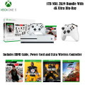 Microsoft Xbox One S 1TB Anthem Bundle, Includes 2 Controllers, HDMI Cable & 3 Extra Games