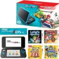 *NEW* Nintendo 2DS XL Mario Kart 7 Gaming Bundle in Black/Turquoise Including 4-Games