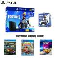 PS4 Fortnite Neo Versa 1TB Core Hardware Bundle with Extra Controller and 3 Racing Games