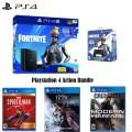 PS4 Fortnite Neo Versa 1TB Core Hardware Bundle with Extra Controller and 3 Action Games