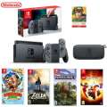 Switch Lite Gray Bundle with 4 Games and $50 Nintendo Card
