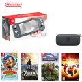 Switch Lite Gray Bundle with 4 Games