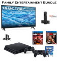 "Family Entertainment Bundle; Samsung 43"" UHD 4K Smart TV PS4 with 3 Games & 2 Remotes"