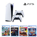 Playstation 5 Console Kids Bundle with Extra Controller & 4 Games