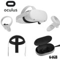 Oculus Quest 2 Advanced All-In-One Virtual Reality Headset 64GB Elite Strap and Carrying Case