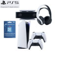 PlayStation5 Digital Edition Console $100 Gift Card, HD Camera, Wireless Headphones & 2 Controllers