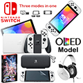Nintendo Switch(OLED model) WhiteJoy-Con Bundle w/Case, Turtle Beach Headset,& Dbl Pack Pok�mon Game
