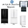 GE 24.8 Cu. Ft. Bottom Freezer French Door Refrigerator-Available In White Or Black