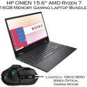"HP OMEN 15.6"" AMD Ryzen 7 16GB Memory Gaming Laptop Bundle with Gaming Mouse"