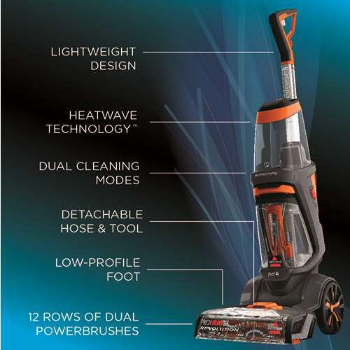 Bissell Proheat 2x Revolution Pet Upright Deep Cleaner