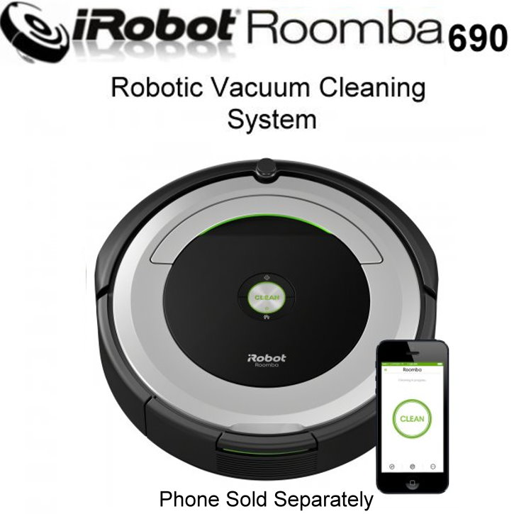 iRobot Roomba690 WiFi Connected Robot Vacuum FeaturinG AeroVac
