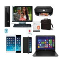 "Extreme Makeover-HP Dktp 24"" Mon, 15.6"" Ntbk,16GB iPad Mini, Free HPPrinter & MS Home&Business"