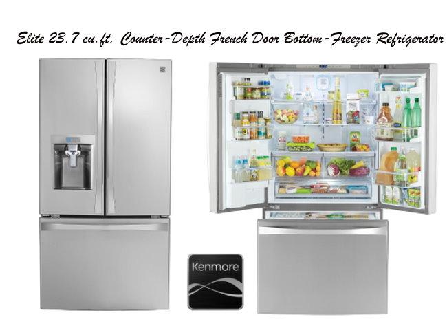 Kenmore Elite 237 Cuft French Door Bottom Freezer Refrigerator