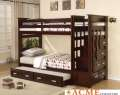 Ultimate Space Saver Featuring Twin/Twin Bunkbed W/Drawers & Trundle In A Rich Espresso Finish