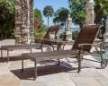 Palladio 3PC Chaise & Table Set Featuring All Cast Aluminum, Rubber Wheels & All-Weather Weave