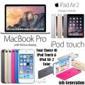 "Apple 3PC Value Pack; 13.3"" MacBook Pro 2.7GHz Intel Core i5, 32GB iPadAir2 & 16GB iPod Touch 6thGen"