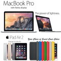 "Apple 3PC Bundle; 13.3"" MacBook Pro 2.7GHz Intel Core i5, 128GB iPad Air 2 & FREE Smart Cover"