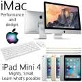 "Apple 2PC Bundle; 21.5"" iMac 2.8GHz Intel Quad Core i5 Desktop Computer + 16GB iPad Mini 4 With WiFi"