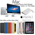 "Apple 3PC Great Bundle; 27"" iMac 3.2GHz with Retina 5K Display, 16GB iPad Air 2 & Smart Cover"