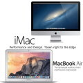 "Apple 2PC Bundle Featuring Apple 21.5"" iMac 2.8GHz Desktop & 13.3"" MacBookAir 1.6GHz Notebook"